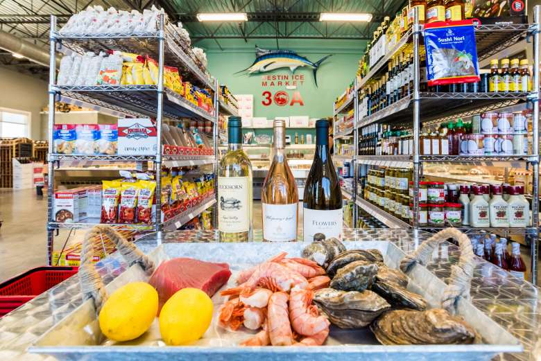 Finest fresh seafood much more at destin ice market 30a for Destin fish market