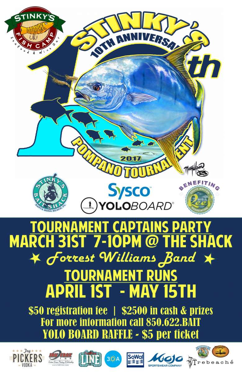 Stinky 39 s fish camp 10th anniversary all day festival apr 1 for Stinkys fish camp