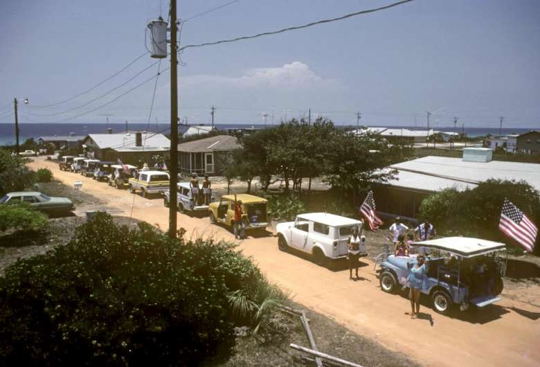 This Photo Is From July 4th 1979 At The Start Of Annual Parade With Ten Jeeps Decked Out Flags Lining Up On Hickory Street In Seagrove